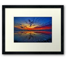 Sunset at Julianadorp Framed Print