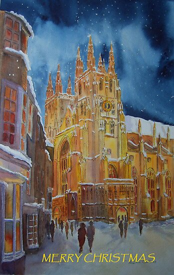 Christmas card, Canterbury cathedral by Beatrice Cloake