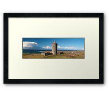 Panoramic Doolin Castle, County Clare, Ireland Framed Print