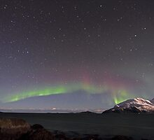 Aurora Borealis at the arctic coast of Norway by Frank Olsen