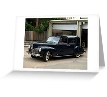 1941 Lincoln Continental City Limousine Greeting Card