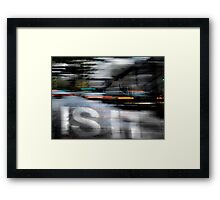 Is It? ... A rainy night in Seattle Framed Print