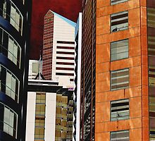 Office buildings in Brisbane CBD by Igor Makunin