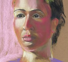 Grace - Pastel Quick Study by Leslie Gustafson