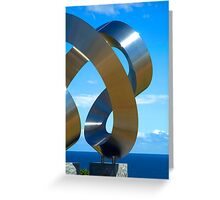 Chrome spirals Greeting Card