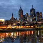 Melbourne Evening by Harry Oldmeadow
