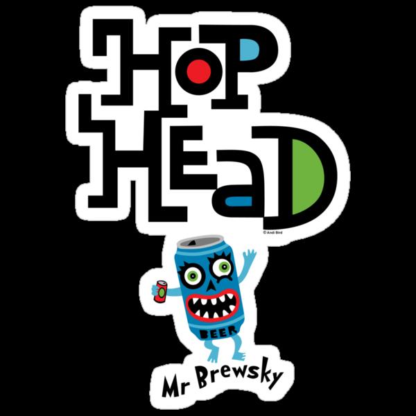Hop Head (Mr Brewsky) - light by Andi Bird