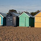 Brighton Beach Huts at Sunset by Erica Morse