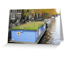 Mow My Roof! - Houseboat in Amsterdam NL Greeting Card