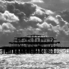 West Pier in Silver Clouds by Nicole Carman Photography