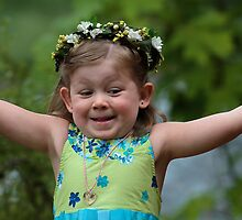 Joyful Flower Girl by Ken McElroy