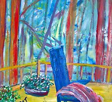 Blue Chair on the Blue Ridge by Patricia Taylor