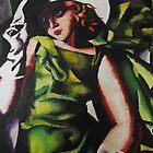 Study of lady in green- Tamara de Lempicka by KatieEBligh