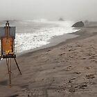 Rusty Easel by Nicole Carman Photography
