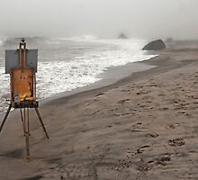 Rusty Easel by Nicole Carman Photography