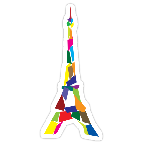 Eiffel tower abstract - Paris, France by Akhilesh