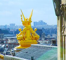 Paris from Galeries Lafayette by exvista