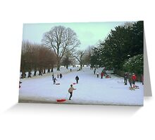 Fun In The Snow!! Greeting Card