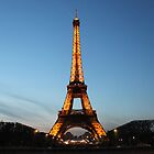 Spring Eiffel Tower at Night by keyconcept