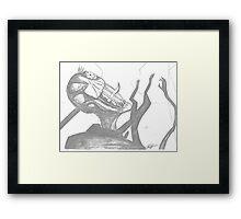 Slender Man  Framed Print
