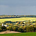 Hampshire Village in Autumn by Wolfiewolf