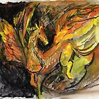 Winged horse of earth and fire by Visuddhi