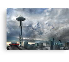 Sweetly Seattle ... Seattle Rain Series Canvas Print