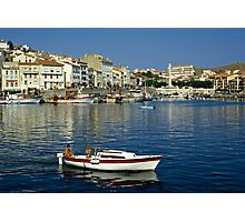 View of Port Vendres Harbour, France. 1980s Photographic Print
