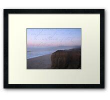 she sent him love letters written on the ocean sky Framed Print
