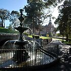 Rosiland Park Fountain Feature by Lozzar Landscape