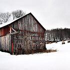 Barn & Round Bales by Debra Fedchin