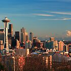 Seattle at Dusk by Inge Johnsson