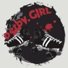 Roller Derby Girl logo by Bluebelly