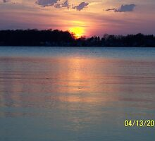 indiana sunset bixler lake by wwilly1968
