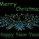 Wreath Christmas Card by Sandra Moore