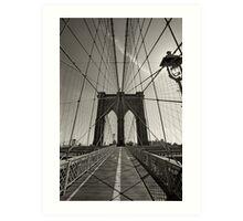 Brooklyn Bridge in New York city Art Print
