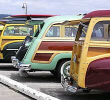 Woodies On The Wharf - Santa Cruz, Santa Cruz County, CA by Rebel Kreklow