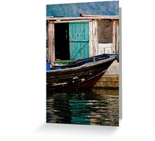 floating colours- floating village, vietnam Greeting Card