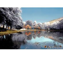 Pale Waters Blue Photographic Print