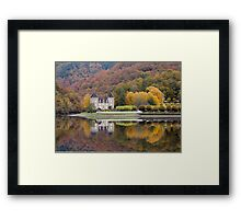 Rich Fall Colors Reflected... Chateau de Gibanel Framed Print