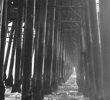 Endless Water Path Under the Pier by JayLeePhotos