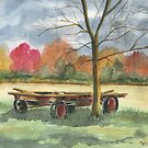 Neighbor Don&#x27;s Old Wagon by Marsha Elliott