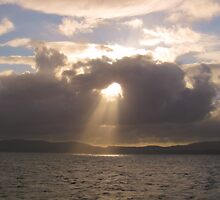 A light from above - en route to the Western Isles, Scotland by KerryElaine
