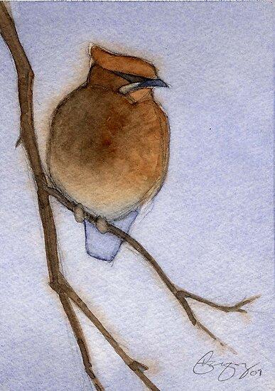 Cedar Waxwing by Greg  Marquez