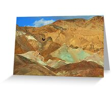 Artists Palette Mountains, Death Valley, Nevada Greeting Card