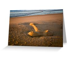 The Giant Sand Knob of Golden Beach Greeting Card