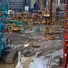 Down Tools-Harbour Construction site , Hong Kong by mypic