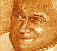 Pope John Paul by Jerry  Stith