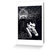 """""""Nikola Tesla""""- 2010 Greeting Card"""