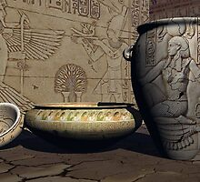 Ancient Egyptian Pottery by plunder